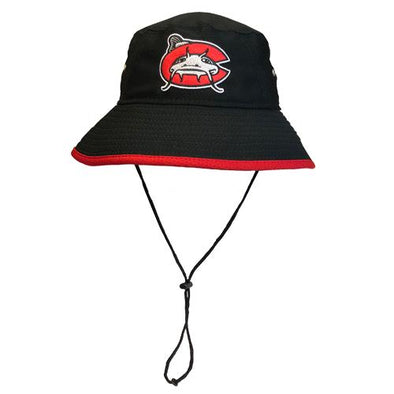 Carolina Mudcats Black Team Hex Bucket Hat