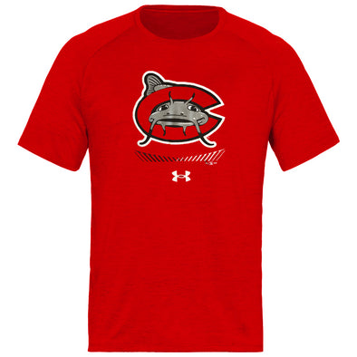 Carolina Mudcats Red Branded Tech Tee