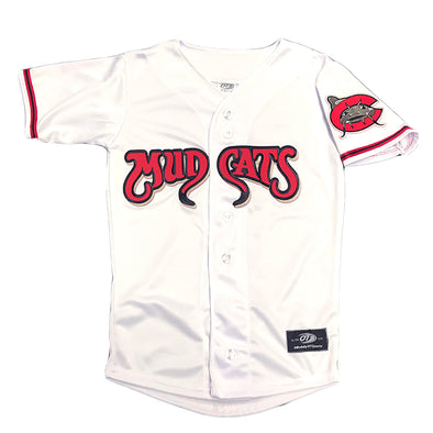 Carolina Mudcats Youth White Pro Mesh Replica Jersey