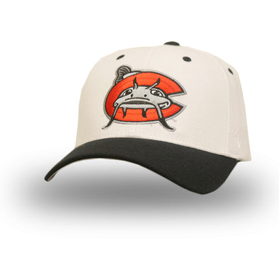 Carolina Mudcats White Flex Fit Cap