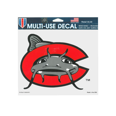 Carolina Mudcats Window Cling
