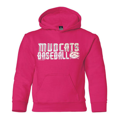 Carolina Mudcats Youth Hot Pink Classic Fleece Hood