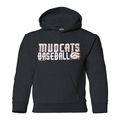 Carolina Mudcats Youth Black Classic Fleece Hood