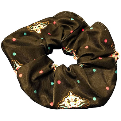Carolina Mudcats Black Pescados Dot Scrunchie
