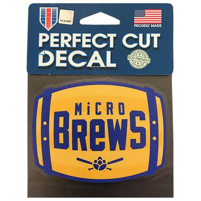 Carolina Mudcats Micro Brews Barrel Decal
