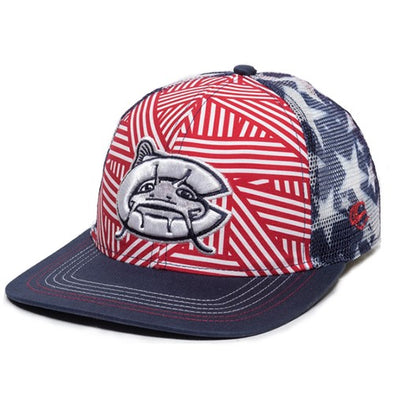 Carolina Mudcats Youth Red/Navy Freedom Snapback