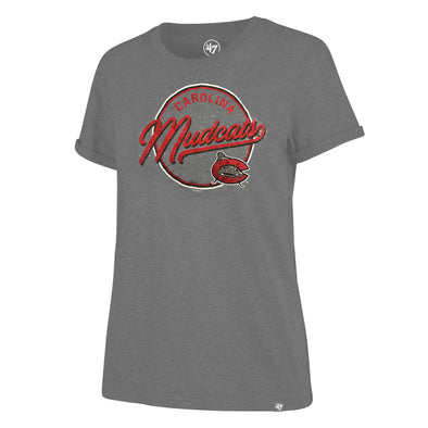 Carolina Mudcats Women's Grey Sweep Match Hero Tee