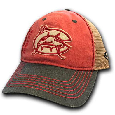 Carolina Mudcats Black/Red Hank Cap