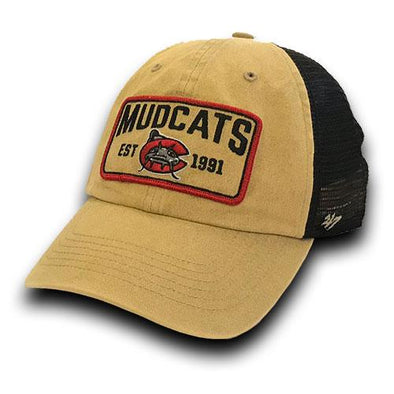 Carolina Mudcats Khaki/Black Gaudet '47 CLEAN UP