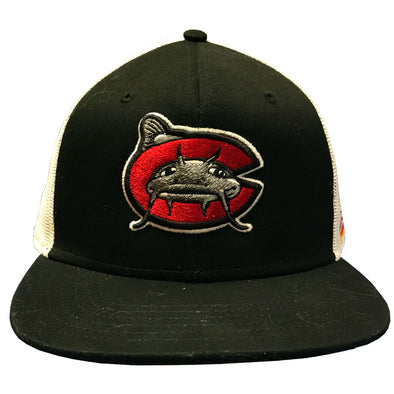 Carolina Mudcats Black/White Side Flag Mesh Snapback
