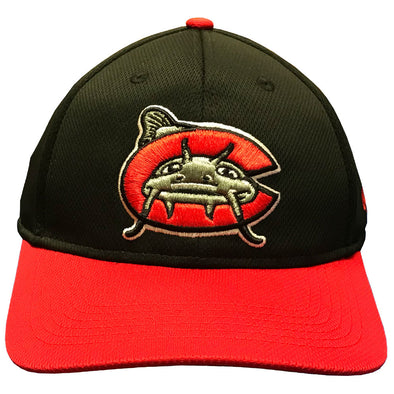 Carolina Mudcats Black/Red Poly Home Infielder Cap