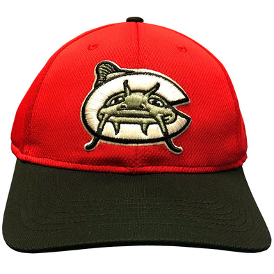 Carolina Mudcats Red/Black Poly Road Infielder Cap