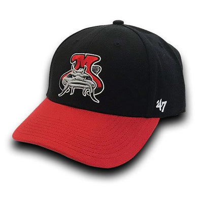 Carolina Mudcats Black/Red Two Tone '47 MVP