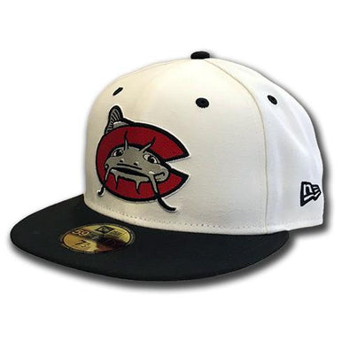 Carolina Mudcats White New Era 5950 On-Field Cap