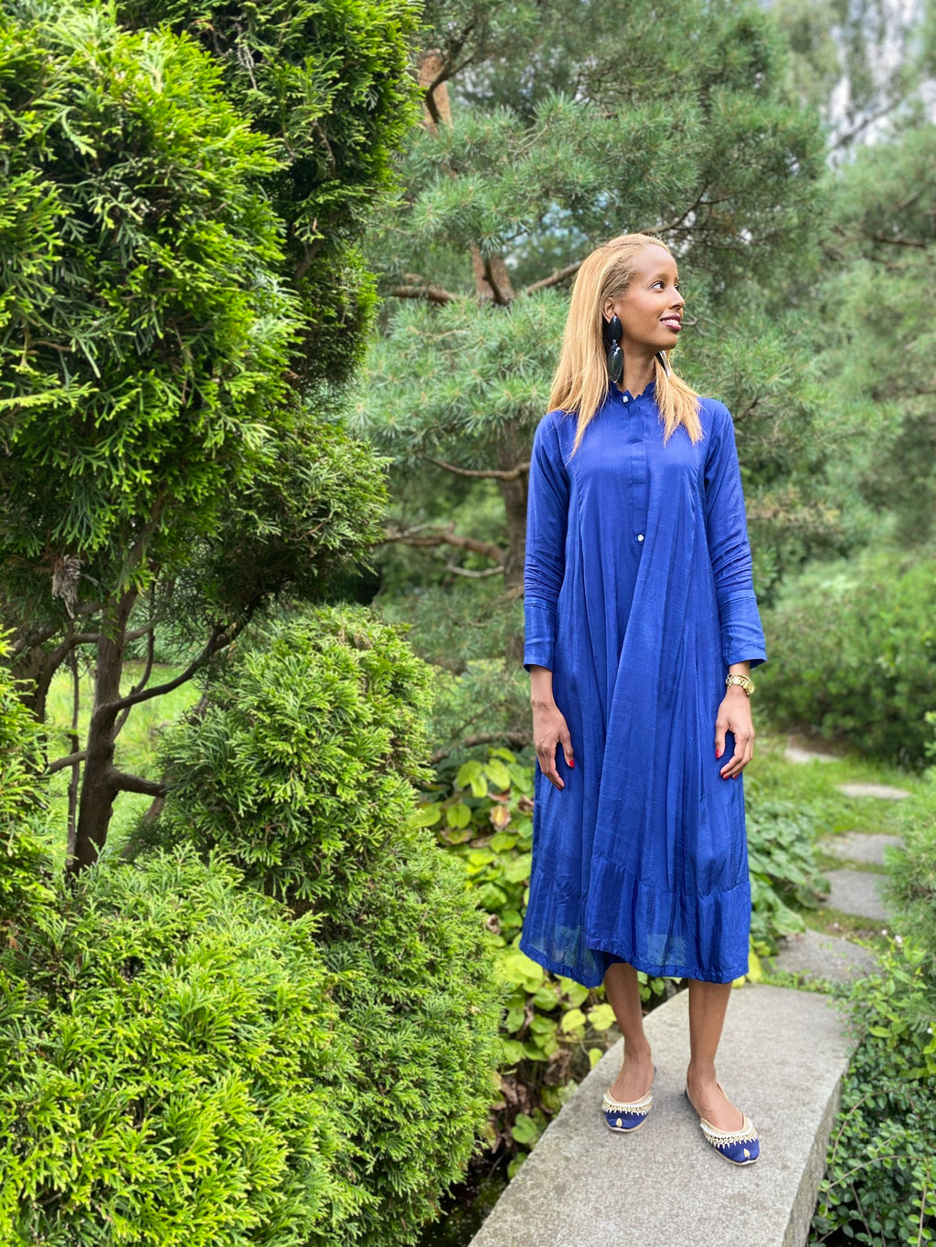 Kalikameezcph fusion dress royal blue