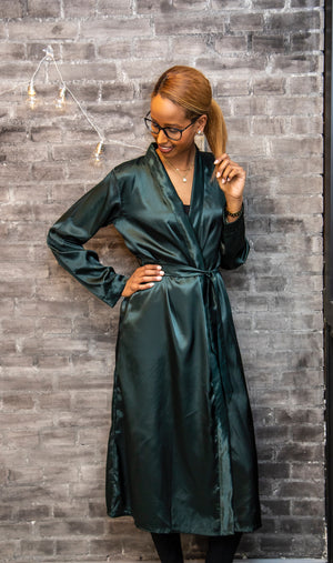 Bottle green robe