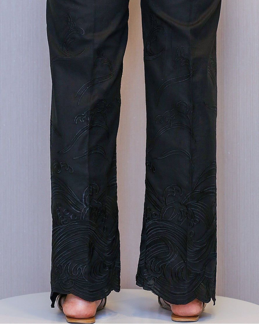 Black waves trousers  by ZAHA