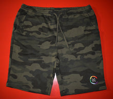 "Load image into Gallery viewer, Sweat Shorts ""Comfort Zone"" Logo  CAMO"