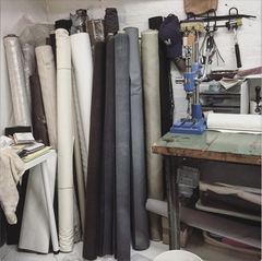 Workspace, fabric rolls