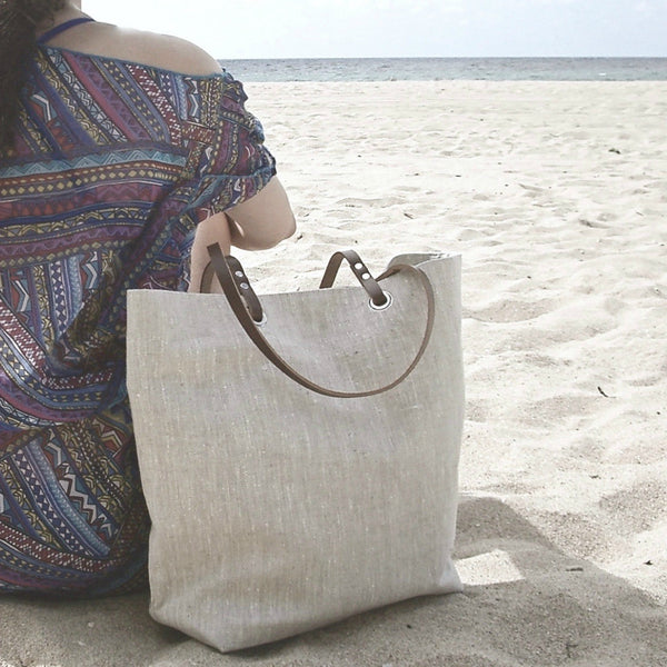 Natural Linen Tote Bag, The Minimalist