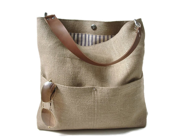 natural jute bucket bag