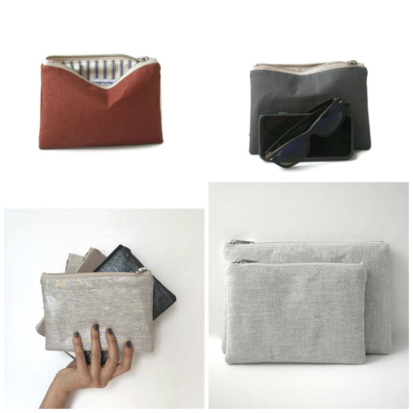 Mini Clutches, Small Zippered Bags