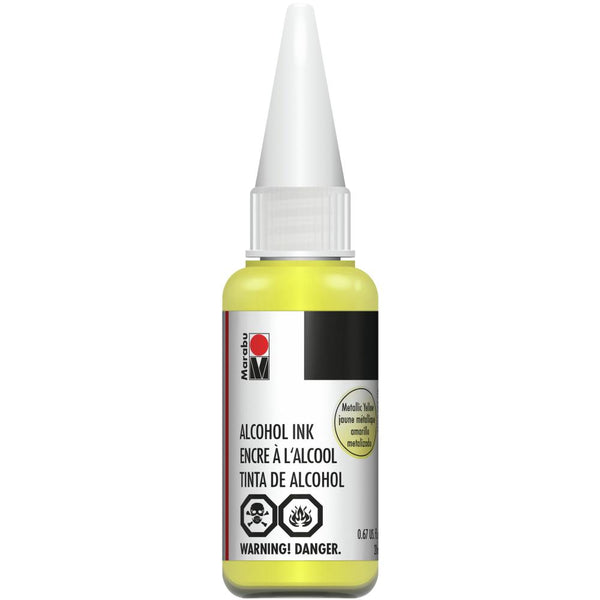 Marabu Alcohol Ink Metallic Yellow 20ml