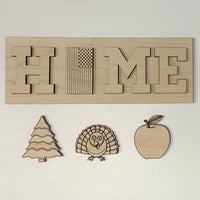 "Wood 10"" Home Sign - Create With 614"