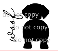 Dog Leash Sign - Dog & Word ONLY