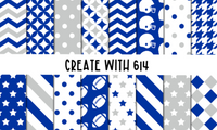 Create With 614 Pattern - Blue & White