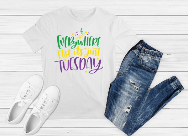 Mardi Gras Tuesday Sublimation Print - Create With 614