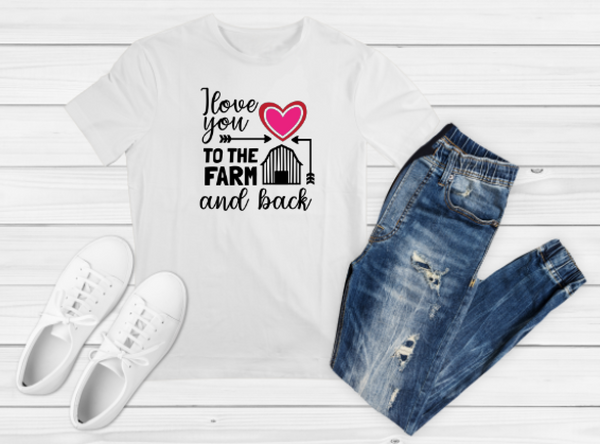 Love You to the Farm Sublimation Print - Create With 614