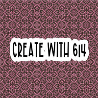 Create With 614 Pattern - Brown & Pink - Create With 614