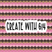 Create With 614 Pattern - Brown & Pink Scallop