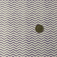 Premium Faux Leather - Purple Chevron