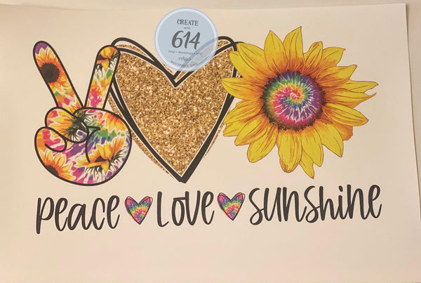 Peace Love Sunshine Ready to Press