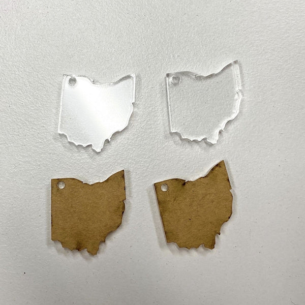 Ohio Acrylic Earring Blanks