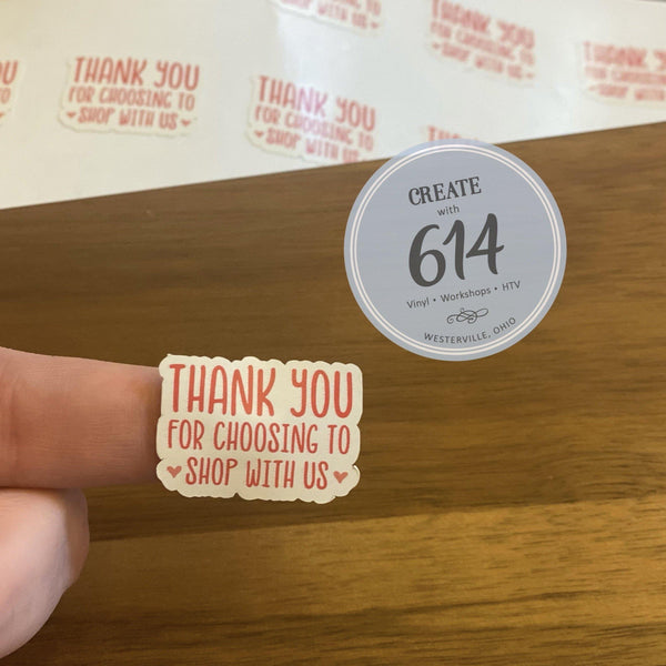 Thank You for Choosing Us Decals - Create With 614