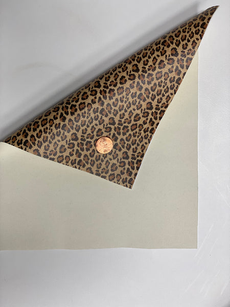 Premium Faux Leather - Leopard Print