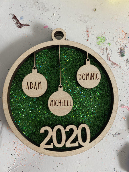 Unifinished 2020 Family Ornament