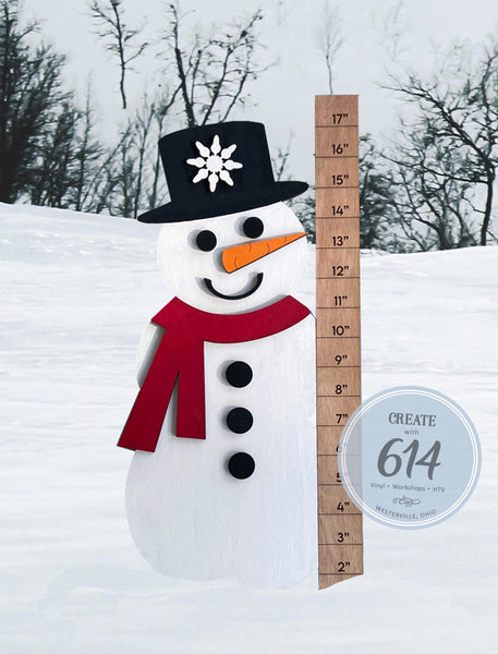 Snowman Measurement Sign