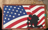 Flag with Soldier - UNFINISHED