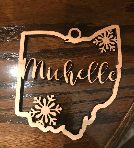 Ohio Snowflake Ornament - Create With 614