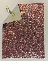 Glitter Sheet Chunky Rose Gold - Create With 614