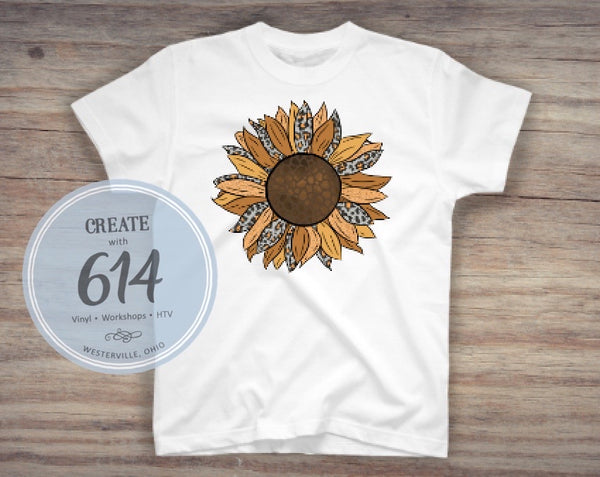 Leopard Sunflower 2 Sublimation Print