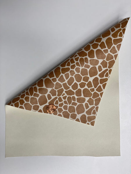 Premium Faux Leather - Giraffe Print - Create With 614