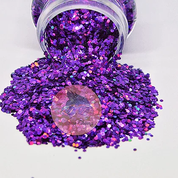 Glitter Chimp - Purple Rain, Chunky Holographic