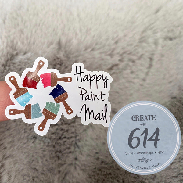 Happy Paint Mail Decals - Create With 614
