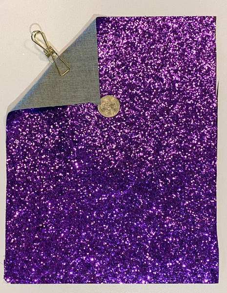 Glitter Sheet Chunky Purple - Create With 614