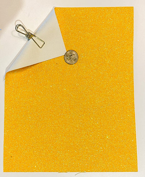 Glitter Sheet Fine Yellow - Create With 614